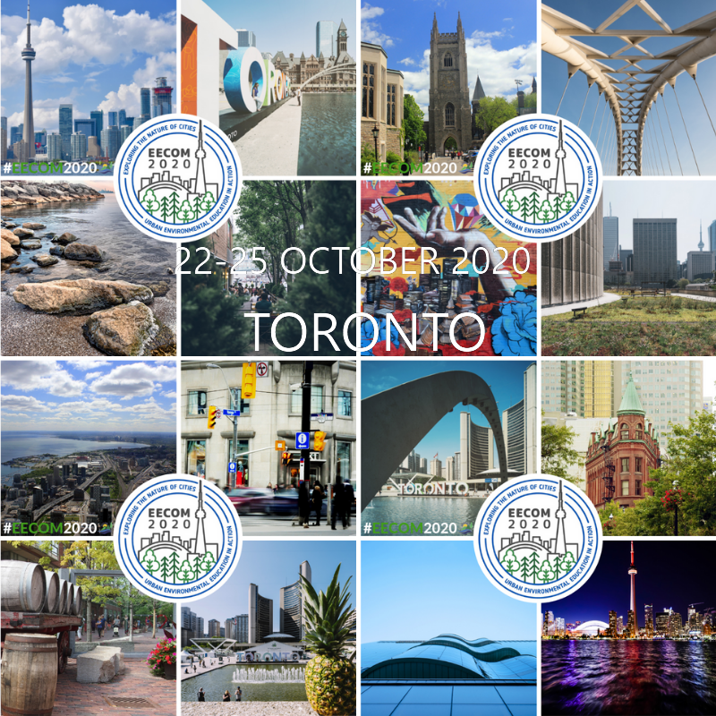 The EECOM 2020 Conference, Exploring the Nature of Cities: Urban Environmental Education in Action, will take place October 22-25, 2020 in Toronto, Canada.   Details will follow in the coming months.