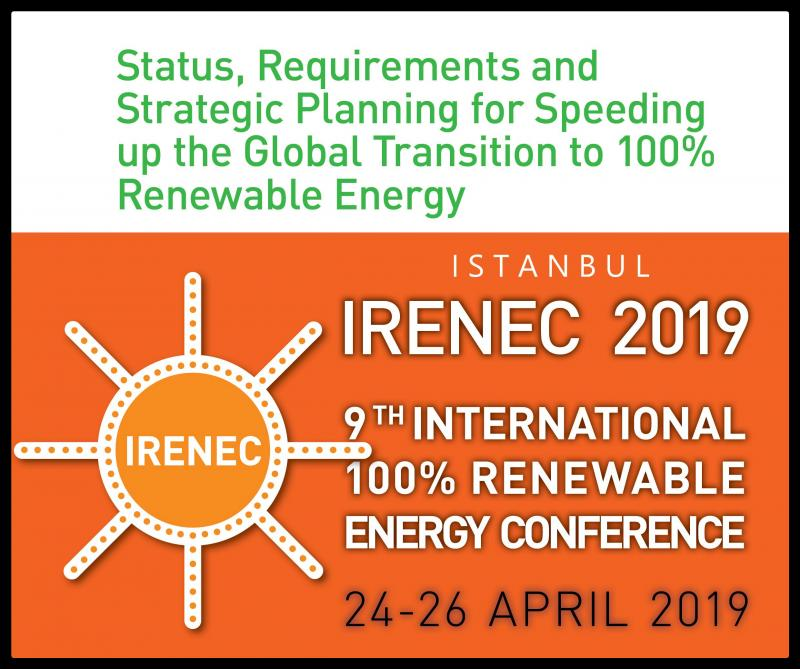 Renewable Energy Association of Turkey (EUROSOLAR Turkey), once again brings you the annual International 100% Renewable Energy Conference (IRENEC 2018). As per the vision of the Association, IRENEC conferences provide an international platform for the sharing of knowledge and ideas regarding the technical, economic, and political aspects of the transition to 100% Renewable Energy and for building the networks to realize this vision through industry, architecture, transportation, local communities and training.