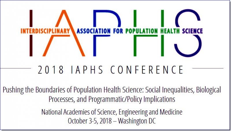 IAPHS conferences feature the latest in population health science from diverse disciplines and promote exchanges about population health issues between scientists and stakeholders from policy and practice fields.