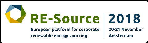 RE-Source 2018 20 – 21 November, Amsterdam  This event will bring together a range of multinational corporations, renewable energy developers and senior decision-makers to raise awareness, exchange information and facilitate connections in order to rapidly increase the procurement of renewable power.