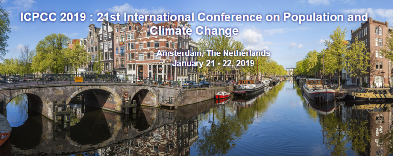 The International Research Conference is a federated organization dedicated to bringing together a significant number of diverse scholarly events for presentation within the conference program. Events will run over a span of time during the conference depending on the number and length of the presentations. ICPCC 2019 : 21th International Conference on Population and Climate Change  is the premier interdisciplinary forum for the presentation of new advances and research results in the fields of  Population and Climate Change