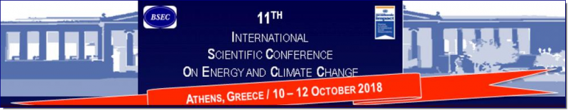 "The 11th International Conference on ""Energy and Climate Change"" will take place at  two different premises of the National and Kapodistrian University of Athens, the ""Kostis Palamas"" building and the ""Drakopoulos Hall"" of the central buiding, on 10-12 October 2018, in Athens, Greece and is set under the auspices of the Black Sea Economic Cooperation Organization and the United Nations Academic Impact initiative."