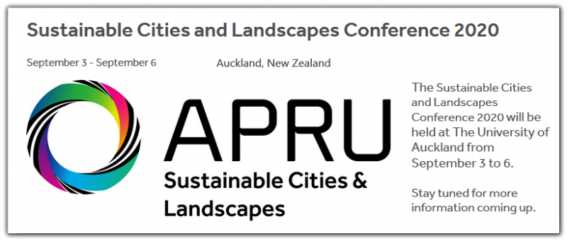 The Sustainable Cities and Landscapes Conference 2020 will be held at The University of Auckland from September 3 to 6.  Stay tuned for more information coming up.