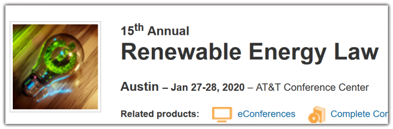 PRESENTED BY The University of Texas School of Law The Oil, Gas and Energy Resources Law Section of the State Bar of Texas (OGERL)  SUPPORTING ORGANIZATIONS Advanced Power Alliance Key Dates Austin      Last day for cancellation (full refund): Jan 21, 2020     Last day for cancellation (partial refund): Jan 22, 2020     $50 processing fee applied