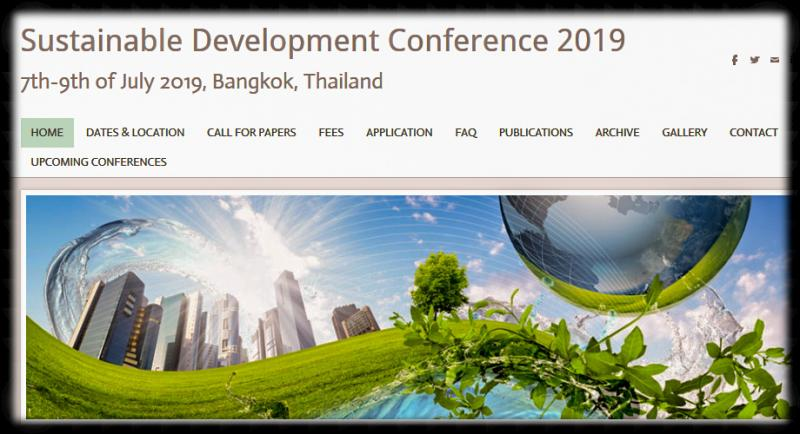 We are proud to invite you to join us at 7th Annual Sustainable Development Conference 2019: Green technology, Renewable energy and Environmental protection, that will take place from 7th to 9th of July 2019 in Bangkok, Thailand.  The Conference is organized by Tomorrow People Organization- internationally recognized non for profit organization with head quarters in Belgrade, Serbia.  The official language of the conference in English. Attendance of delegates from more than 40 countries is expected.  This highly exciting and challenging international Conference on sustainable development is intended to be a forum, discussion and networking place for academics, researchers, professionals, administrators, educational leaders, policy makers, industry representatives, advanced students, and others.