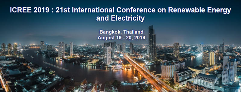 ICREE 2019: 21st International Conference on Renewable Energy and Electricity aims to bring together leading academic scientists, researchers and research scholars to exchange and share their experiences and research results on all aspects of Renewable Energy and Electricity. It also provides a premier interdisciplinary platform for researchers, practitioners and educators to present and discuss the most recent innovations, trends, and concerns as well as practical challenges encountered and solutions adopted in the fields of Renewable Energy and Electricity.