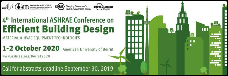 The focus of the 4th ASHRAE Beirut Conference is on novel building technologies that enhance environmental quality in buildings and the impact of energy reforms on both the demand and the environmental quality with the goal of saving costs while providing the needed thermal and air quality environment for better performance and improved health.