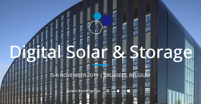 After the success of the second event in 2018, SolarPower Europe and IBESA are collaborating again for the second Digital Solar & Storage conference on 5-6 November 2019 in Brussels, Belgium. Join high-level executives from utilities, digital innovators and storage solution suppliers to discuss the latest business models and market trends shaping the New Energy World.
