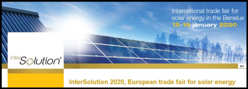 The success of the 2019 edition confirms the final breakthrough for solar energy in the Benelux. Interest in solar energy just keeps rising, and companies are investing more and more in solar solutions. Solar energy is, and will remain, the future.  Just as with the previous editions since 2009 - with an average of 3,800 visitors - InterSolution 2020 will be an international B2B forum for the solar industry where supply meets demand.  Leading suppliers from throughout Europe demonstrate their latest innovations in solar panels and energy storage, assembly systems and control techniques, software and monitoring. For this reason, a visit to InterSolution is useful for any professional coming into contact with the solar energy business, such as installers, electricians, contractors, roofers, plumbers and architects.
