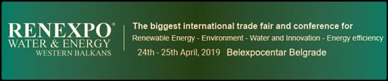 Belgrade will become host to experts for renewable energy developement and environment – don't miss to visit RENEXPO® Water and Energy  RENEXPO® WATER & ENERGY, the largest international trade fair and conference program in the region about sustainable energy development, energy efficiency, environmental protection, water management and waste and e-mobility