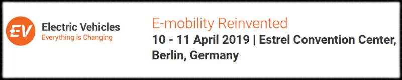 10-11 April 2019, Berlin. Electric Vehicles: Everything is Changing will reveal the latest advances and newest roadmaps in this radically changing industry. We balance the presentations from the giants with new faces revealing important breakthroughs. IDTechEx finds the companies and researchers that break the mould. Read more at: https://www.idtechex.com/electric-vehicles-europe/show/en/