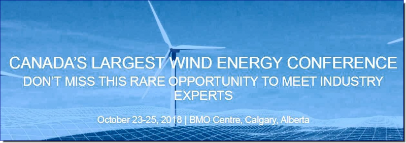 The Annual Canadian Wind Energy Conference & Exhibition is the meeting point for all members of the wind energy industry – top business executives, technical experts, decision and policy makers, and government representatives – to come together and address the key issues facing the industry today.  Premier exhibiting companies will present their cutting-edge technology and innovations that will help solve the industry's biggest problems and pave the way for a more efficient, effective, and sustainable energy future.