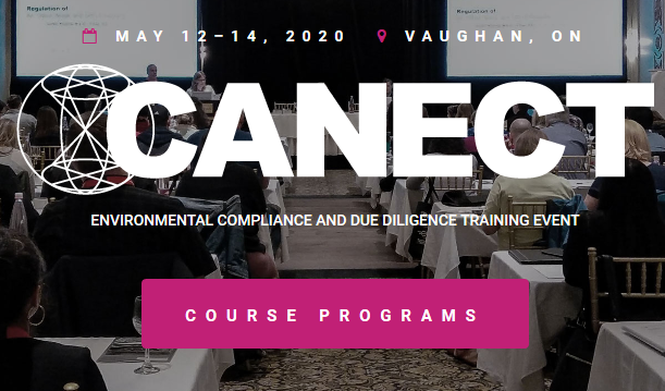 For over 27 years, CANECT courses have met the needs of Canada's environmental managers and professionals. Attend CANECT to keep up-to-date with new environmental regulations and expand your awareness and best practices.