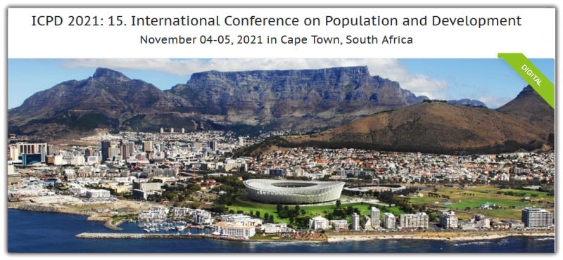 International Conference on Population and Development aims to bring together leading academic scientists, researchers and research scholars to exchange and share their experiences and research results on all aspects of Population and Development. It also provides a premier interdisciplinary platform for researchers, practitioners and educators to present and discuss the most recent innovations, trends, and concerns as well as practical challenges encountered and solutions adopted in the fields of Population and Development