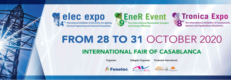 This event is an unmissable international event and a regional hub for the various stakeholders in these three key sectors. Electrical suppliers as well as renewable energy and electronics professionals will find an ideal commercial platform. Exchanges, meetings, conferences, partnerships, conventions and signing of contracts will pace the four days of this event, which is still very much awaited by the community of professionals in the sectors concerned.
