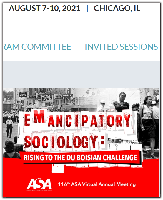 EMANCIPATORY SOCIOLOGY: RISING TO THE DU BOISIAN CHALLENGE For decades, intense debates have stirred about the purpose of sociology. On one side, purists view sociology as an objective science whose practitioners are dispassionate scientists interested only in pursuing sociological truths. On the other, emancipationists believe sociology to be a rigorous science whose ultimate goal is uncovering sociological truths crucial to achieving liberation. The debaters proceed as never the twain shall meet.  The 116th Annual Meeting of the American Sociological Association rejects the premises animating this debate because they rest on a false dichotomy.