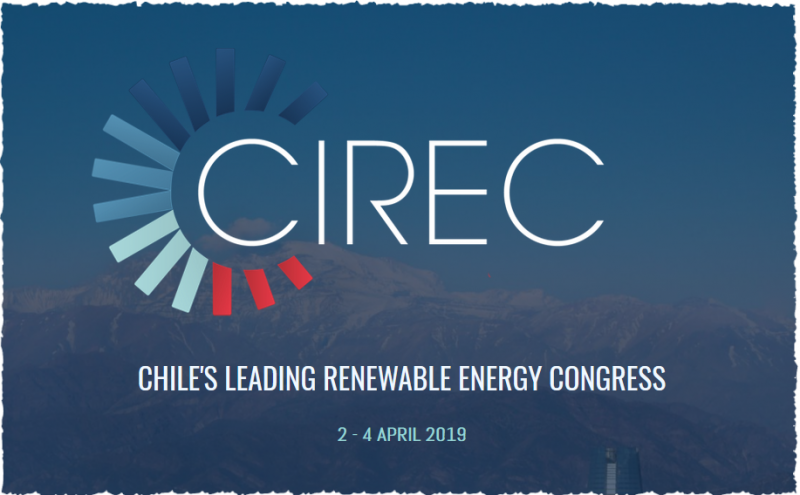 WELCOME TO CIREC 2019 - Chile's leading renewable energy congress  Next year we are delighted to be hosting our 7th edition of CIREC. Over the past seven years, we are proud to say that the event has grown and evolved along with Chile's renewable energy sector. CIREC has always strived to reflect and drive the country's clean energy industry by evolving with the market. With little in the way of fossil fuels, the surge in renewable energy projects has been astronomical, and Chile's renewable energy industry has seen an impressive growth over the past five years.