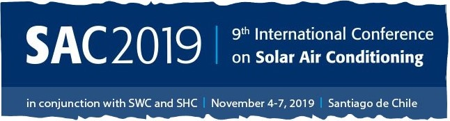 SAC 2019 will be a 1-2 days conference which will be held during the Solar World Congress (SWC) and the International Conference on Solar Heating and Cooling for Buildings and Industry (SHC).    SAC 2019 will give the floor to the new generation of solar cooling systems based on the coupling between PV and air conditioning systems as well as the diversification of usage of the solar heat beyond simply cooling: domestic hot water, space heating, process heat, heating for networks.  SWC and SHC 2019 will provide a perfect frame for SAC, offering the opportunity to exchange with experts from other solar disciplines as well.