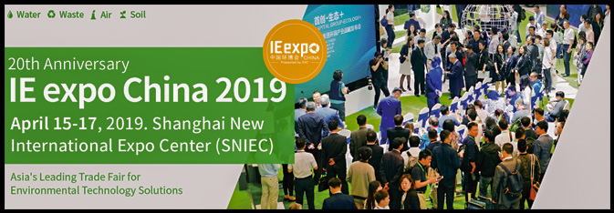 "As the Asia's leading environmental show, IE expo China 2019 offers an effective business and networking platform for Chinese and international professionals in the environmental sector and is accompanied by first-class technical-scientific conference program. It is the ideal platform for the professionals in the environmental industry to develop business, exchange idea and do networking.     Along with the increased market demand and big support in the environmental industry from the Chinese government, the business potential in the environmental industry in China will be huge. Undoubtedly, IE expo China 2019 will be a ""must"" for the environmental players to exchange ideas and develop their business in Asia"