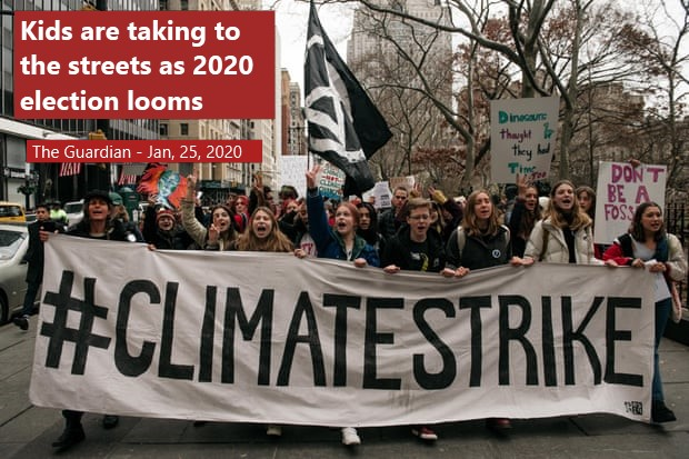 Organizers in the youth climate movement plan an avalanche of activities beginning next week, determined to make the future of the climate the major issue of the 2020 election.
