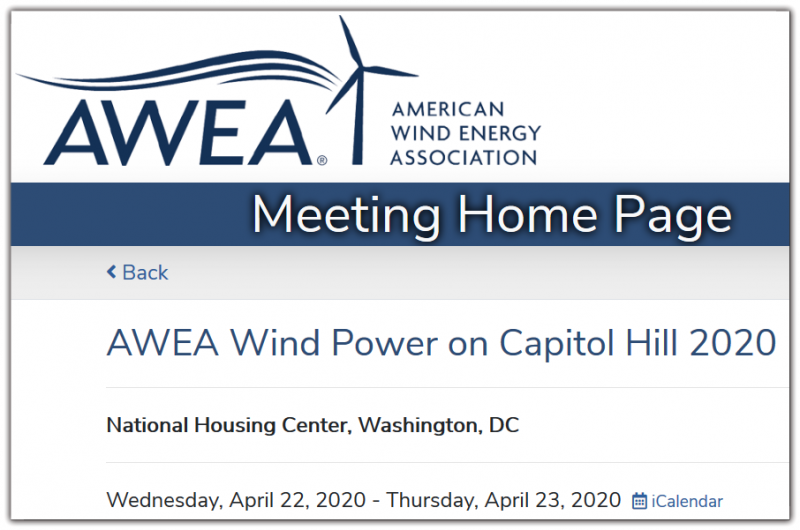 AWEA's Wind Power on Capitol Hill is a rare opportunity for AWEA members and wind energy stakeholders to educate legislators and their staffs on top federal legislative priorities and to advance key wind industry goals.