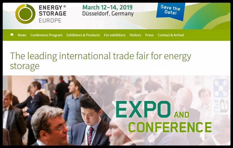 ENERGY STORAGE EUROPE offers a unique forum to the leading research institutes and companies of the storage industry. Here you are able to experience all of the presently existing storage technologies.