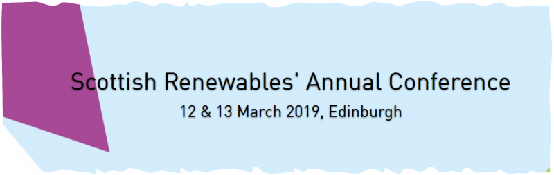 Scottish Renewables' Annual Conference 2019 returns to the Sheraton Grand Hotel in Edinburgh on Tuesday 12 & Wednesday 13 March. We look forward to welcoming over 250 professionals from the renewable energy industry over the two day conference, which will be once again headline sponsored by EDF Renewables.