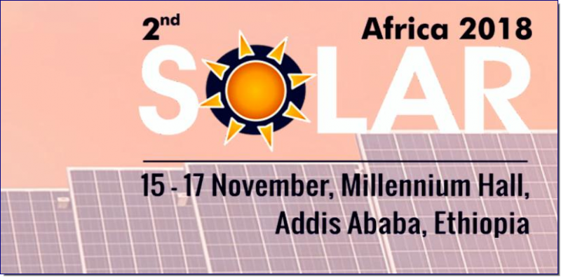 "The overwhelming response from the Solar Industry has encouraged Expogroup to launch ""SOLAR AFRICA"" and after successful editions in Kenya and Tanzania Solar Africa is all set to step in the Ethiopian Market.  Solar Africa in Ethiopia will be held concurrently with Power &Energy Africa from 15th to 17th November 2018.  The region offers tremendous opportunities to suppliers worldwide, having among the strongest solar resources in the world. In particular, the region offers excellent potential for concentrated solar power (CSP) and concentrated photovoltaic (CPV) systems."