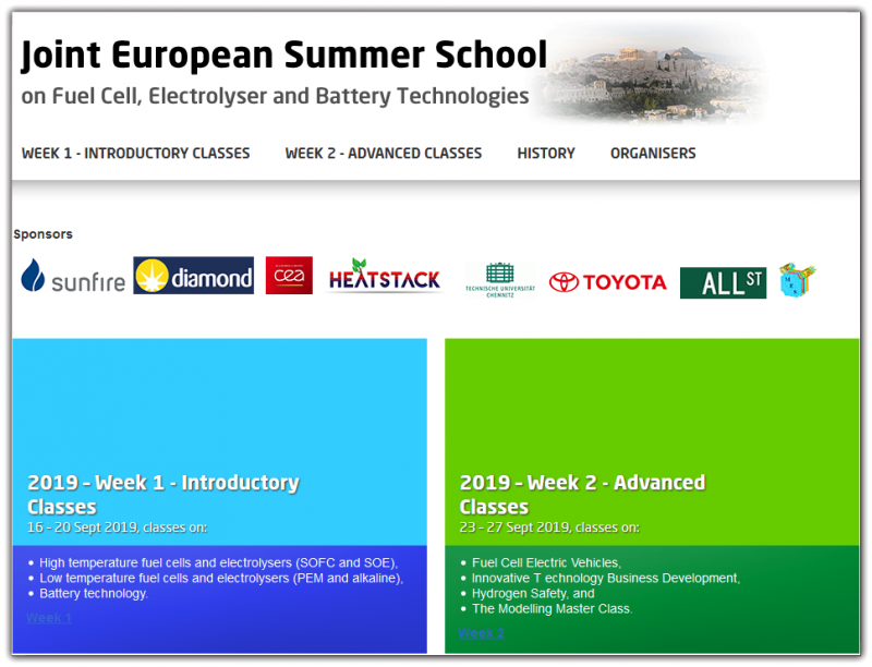 Joint European Summer School 2019 School Structure  The Summer School has 2 individual weeks of lectures each divided into a number of classes.  Week 1: Introductory Classes Week 2: Advanced Classes  The 2 weeks are organised individually and you can sign up for one or two weeks as suits you.