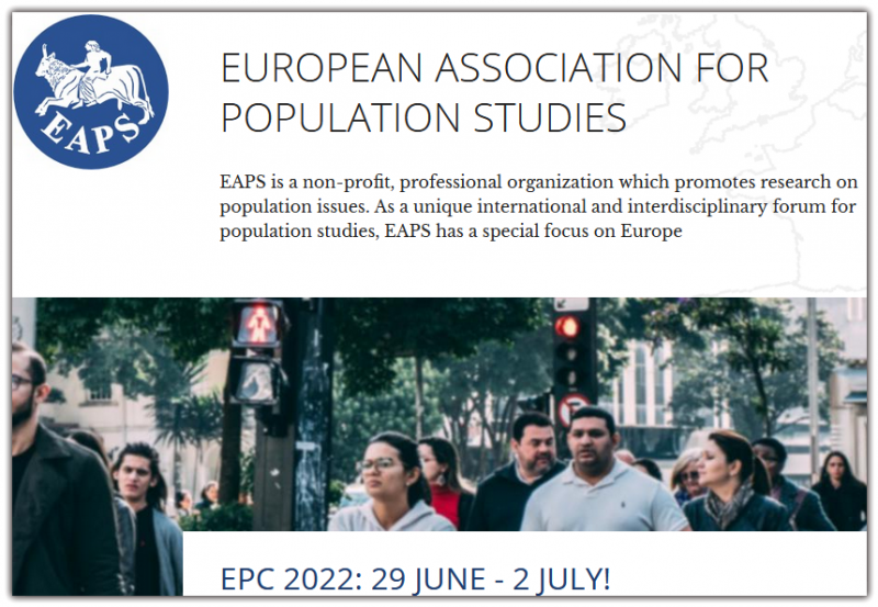 Icon for Activities Activities  EAPS organises the European Population Conferences and facilitates other research, training and dissemination activities Learn more Icon for become a member Join EAPS  Membership is open to everybody who is interested in the study of population, who supports our goals and who pays membership fees