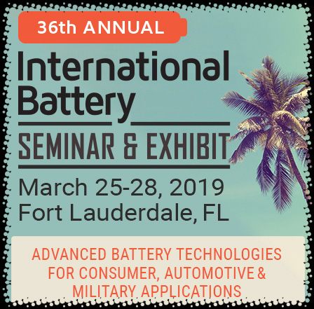 Nearly 950 battery researchers, representing some of the most successful and famous brands in the world - like 3M, Amazon, Apple, BASF, Black & Decker, BMW, Boeing, Bosch, Boston Scientific, Caterpillar, Dell, Dow Chemical, Duracell, Energizer, Facebook, Fiat Chrysler, Fitbit, Ford Motor Company, General Motors, Google, Honda, Huawei Technologies, IBM, Intel, Johnson Controls, LG, Mercedes-Benz, Medtronic, Microsoft, Motorola, Nissan Motor Company, NVIDIA, Panasonic, Porsche, Qualcomm, Samsung, Sony, Subaru, Texas Instruments, Toyota, Uber, Volkswagen, Volvo, and hundreds more - convened in Fort Lauderdale for the 35th Annual International Battery Seminar & Exhibit.  The entire advanced battery ecosystem was well-represented, including leading OEMs, top battery manufacturers, developers of advanced materials and components, plus national labs, government agencies, and universities. In fact, eight automotive OEMs, seven consumer electronics OEMs, and 13 battery manufacturers presented their latest data and technical roadmaps for the future this year.