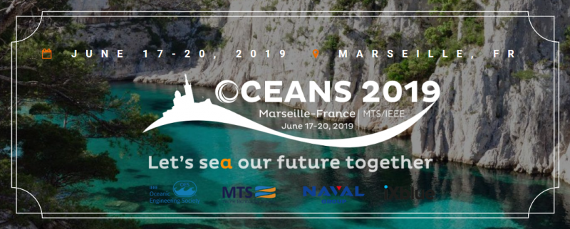 OCEANS conference is jointly sponsored by the IEEE Oceanic Engineering Society (IEEE/OES) and the Marine Technology Society (MTS) and is one of the most influential international conference in this field, where you can discover all the new technologies and dedicated research linked to the comprehension of oceans. OCEANS 2019 Marseille will be a fantastic place for information sharing and networking, with an Exhibition, several tutorials on special interest topics, hundreds of technical presentations and a student poster program. Moreover, for the first time in the OCEANS series, a day will be fully dedicated to the Exhibition, with on-site demonstrations, round tables, symposiums, ministerial delegations … more than a simple exhibition, OCEANS 2019 Marseille will offer a world leading forum, where industry, academia and government organizations will share knowledge and connect with marine science and ocean technology communities.