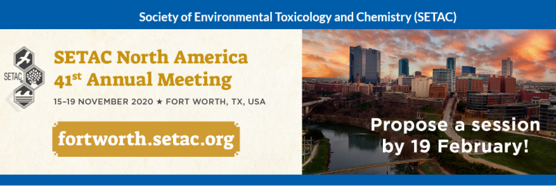 "Do you have advanced knowledge of a specific topic in environmental toxicology and chemistry? Are you passionate about sharing that knowledge, and do you have a network of colleagues who are equally knowledgeable and passionate about the research area? Then propose a session that is timely, relevant and of local, national or international interest. We are especially interested in proposals related to the meeting theme ""2020 SETAC In F0cus: Environmental Quality Through Innovative Science."""