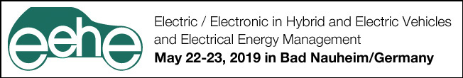 "The international EEHE Conference (Electric / Electronic in Hybrid and Electric Vehicles and Electrical Energy Management) is being held on May 22-23, 2019 in Bad Nauheim/Germany for the eighth time.  Haus der Technik brings together developers, users and researchers at EEHE, which combines the themes of three HDT conferences: ""Energy Management and On-Board Networks"", ""Electrics / Electronics in Hybrid and Electric Vehicles"" and ""Engine Start / Stop Systems"".  Conference participants have the chance to meet all important players in the industry at a single conference. From the large number of submissions received, a particularly attractive programme has been put together with poster presentations and vehicle displays."