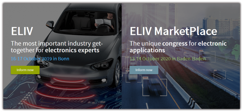 The VDI ELIV (electronics in vehicles) network meet is THE event for all experts in electrics and electronics. Every year, the internationally-oriented ELIV Congress alternates with the nationally-focused ELIV Marketplace.  Both events bring decision makers and specialists together from automotive OEMs, suppliers and service providers from the fields of research and science. Participants get together to report on new innovation, exchange ideas and lay the groundwork for the decisions of the future. In addition to 'classic' electronic discussions in hardware and software, the events also focus on current trends and new developments.  Highlights include the comprehensive program with several practically-oriented presentations as well as the accompanying trade fairs. Gain the latest expert knowledge about technical directions and innovation in various sessions and discuss your questions in open forums. Trends in the automotive industry are made here, together with the basis for tomorrow's decisions! At the trade fairs, you also have the opportunity to engage with suppliers and other service providers directly to discuss new products and services.