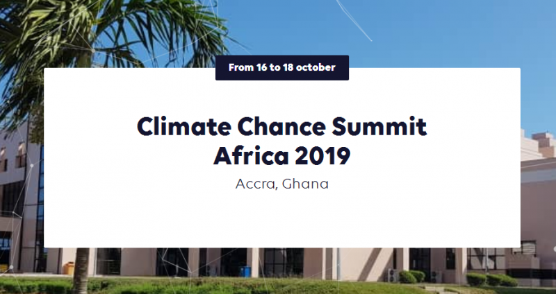 The Climate Chance Summit – Africa 2019 will take place in Accra from October 16th until October 18th at the International Conference Center in Accra. It will be a wide gathering of 1000 non-state actors fighting climate change on the African continent, including local governments, businesses, trade unions, environmental NGO's, farmers, women and youth organisations, researchers,etc. It will highlight the engagement of Ghana and more broadly the African actors in fighting climate change.