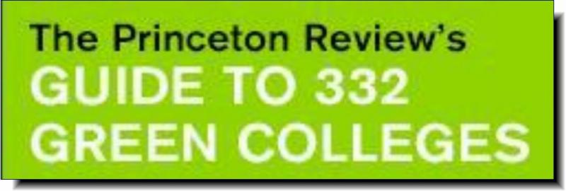 Princeton Review | 2015 Guide to 353 Green Colleges