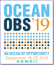 As part of the decadal conference series, OceanObs'19 will galvanize the ocean observing community ranging from scientists to end users. OceanObs'19 seeks to improve response to scientific and societal needs of a fit-for-purpose integrated ocean observing system, for better understanding the environment of the Earth, monitoring climate, and informing adaptation strategies as well as the sustainable use of ocean resources.