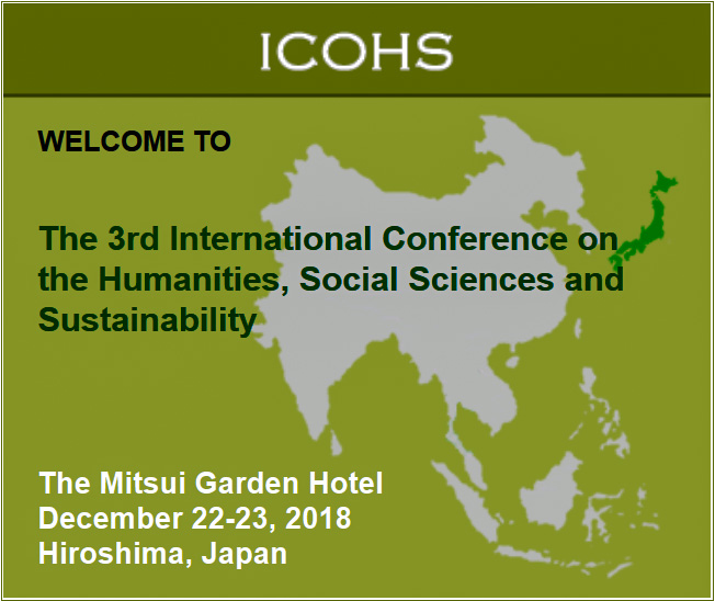 Welcome to the 3rd International Conference on the Humanities, Social Sciences and Sustainability (ICOHS 2018). This  international, peer-reviewed event will be held in partnership with the 2nd International Symposium on Strengthening Peace Through Education (ISPED 2018).  ICOHS 2018 along with ISPED 2018 will be held on Saturday and Sunday, December 22-23, 2018 at the Mitsui Garden Hotel in Hiroshima, Japan.  This is a small, international, peer-reviewed conference with a limited number of oral and poster presentation time slots. We encourage all interested participants to submit presentations as early as possible. Please note that submissions and registration will close when the event has reached its capacity.  All early registrants will receive a free Hiroshima travel pass. The Visit Hiroshima Tourist Pass for international visitors offers you unlimited rides on designated transportation areas, including expressway buses on seven routes, all Hiroshima Electric Railway (Hiroden) streetcar lines, ferries to Miyajima the Shrine Island and streetcar lines to Hiroshima Peace Park – both Miyajima and Peace Park are UNESCO World Heritage sites.