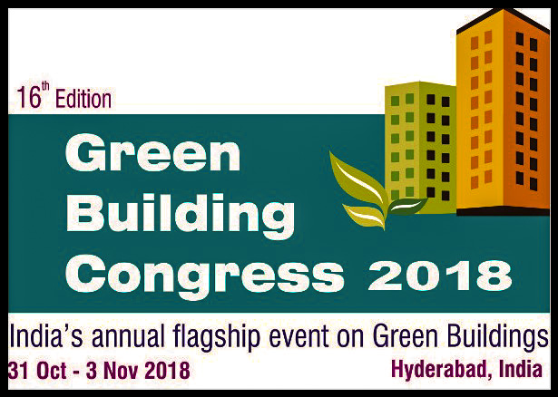 Today, the event has consolidated itself as India's annual flagship event on green buildings. Leading national and international stakeholders will converge at the event to share, learn and explore new growth opportunities.    Encouraged by earlier editions, IGBC is organising its 16th edition of  Green Building Congress from 31st October - 3rd November 2018 in Hyderabad,Telangana. The 3-day event would be marked by international conference, concurrent sessions, international exhibition and award programmes.