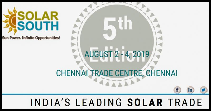 Join the largest gathering of Solar installers, manufacturers and energy storage professionals for three days of networking and thought leadership. SOLAR SOUTH 2019 Expo is an event and a superb opportunity for anyone in the Solar industry to meet the cream of manufactures, suppliers and newcomers. Exhibition is a showcase of the people, projects and products that are driving solar and storage to new heights of innovation and excellence.