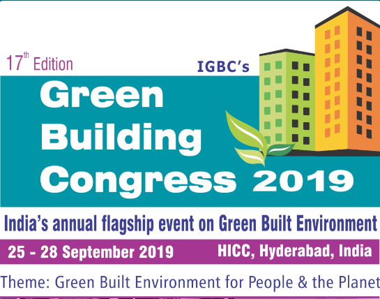 IGBC has been organising its annual flagship event since 2001 onwards which has been evoking excellent response from the stakeholders. Over the years, the event grown significantly in terms of content, outreach and participation.  Today, the event has consolidated itself as India's annual flagship event on green buildings. Leading national and international stakeholders will converge at the event to share, learn and explore new growth opportunities.    Encouraged by earlier editions, IGBC is organising its 17th edition of  Green Building Congress 2019 from 25 - 28 September 2019 at Hyderabad International Convention Centre (HICC), Hyderabad, Telangana.  The 3-day event would be marked by international conference, concurrent sessions, international exhibition and award programmes.   We warmly invite you to join us at Green Building Congress 2019..