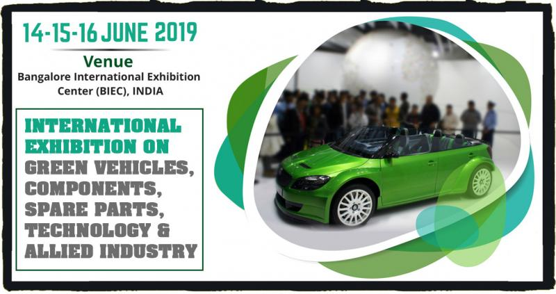 Welcome to Green Vehicle Expo 2019  Media Day Marketing is pleased to announced the Green Vehicle Expo 2019. The three day trade show is scheduled from 14th to 16th June'2019 at Bangalore International Exhibition Center, Bengaluru, India. Green Vehicle Expo 2019 is a show which will focus on international exhibition on green vehicles, components, spare parts, technology & allied industry. The Green Vehicle Expo aims to be instrumental in providing an apt platform to the industry players and OEMs to explore the market potential for their products in India.
