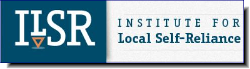 Institute for Local Self-Reliance | The Institute's mission is to provide innovative strategies, working models and timely information to support environmentally sound and equitable community development.