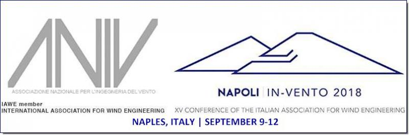 The Italian Association for Wind Engineering is pleased to welcome to Napoli the delegates to IN-VENTO-2018. The aim of the Conference is to provide a major forum for the exchange of ideas and discussion on the latest advances in the field of wind engineering, bluff-body aerodynamics, structural dynamics and reliability, wind modelling and forecast, wind energy.