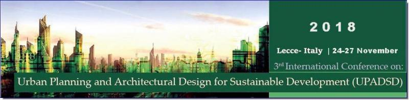"The 3rd Conference on ""Urban Planning and Architectural Design for Sustainable Development"" (UPADSD), to be held in Italy, follows the success of previous meetings 2015, 2017. It has become apparent that contrivers, environmentalists, architects, technologist, policy Creator and economist have to work together in parliamentary law to ensure that planning and evolution can meet our nowadays needs without comprising the ability of future generations.  Trouble related to planning and ontogenesis, which affect rural and urban surface area, are present in all realm of the world. Accelerated urbanization has resulted in worsening of the environment and release  quality of life. Urban growing can also aggravate problems faced by rural areas such as forests, mess regions and coastal areas, amongst many others."
