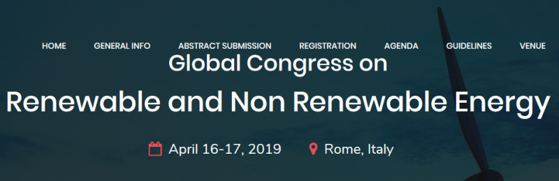 It is a matter of great pleasure to be a part of the Global Congress on during April 16-17, 2019 in Rome Italy with the theme of Emerging Technologies in Renewable & Non Renewable Energy.  The paving steps of the technical thoughts and the hard work of fellow members of the technical fraternity will prove to be the staircase for scaling scientific heights. Discussion on Renewable and Non Renewable Energy Sources provides excellent opportunity to meet experts, scientists, engineers, directors of companies and research scholars in the field of Energy Resources. The scientific program paves a way to gather visionaries through the research talks and presentations and put forward many thought provoking strategies. In this event, the representatives from Technical Institutions and Industries are expected to deliberate and share their knowledge and experience in the various emerging technological trends and innovations. The attendees at the end of this event, I am sure, would walk away with added value to their lives and research career.