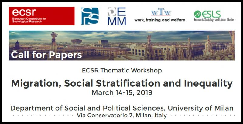 Research on social stratification and mobility and migration studies are both interested in the issue of inequality: both research streams are indeed concerned with the analysis of the impact of birth characteristics on life chances. This workshop aims to integrate these two areas of research, promoting and encouraging the dialogue between sociologists and labour economists interested in geographical mobility. Do the mechanisms of reproduction of social inequality work differently among migrants and their descendants? Have migrants worse life opportunities net of social class? How does such penalty change among migrants with different social origin? The workshop addresses these issues encouraging contributions