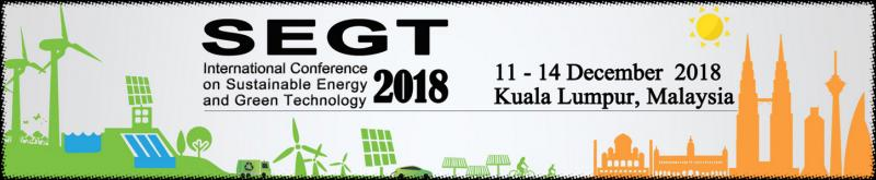 SEGT 2018 aims to promote research in the field of sustainable energy and green technology, and facilitate the exchange of new ideas in these fields among academicians, engineers, scientists and practitioners. It includes plenary, keynote & invited speeches, oral presentations & poster sessions on different topics. Accepted papers will be published in a Scopus-indexed conference proceedings*. Selected papers will be published in special issue of renowned ISI-indexed journals i.e. International Journal of Hydrogen Energy (Q1; IF 3.582), International Journal of Energy Research (Q1; IF 2.598), Energies (IF 2.262) and Frontiers in Microbiology (Q1; IF 4.076); and recommended for publication in The Journal of the Chinese Society of Mechanical Engineers. Best Paper Awards and Best Poster Awards will be presented.