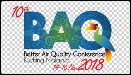 Clean Air Asia together with the Clean Air Forum Society of Malaysia (MyCAS), Malaysia's Ministry of Natural Resources and Environment, and the Natural Resources and Environment Board of Sarawak are organizing the 10th Better Air Quality (BAQ) Conference at the Borneo Convention Centre Kuching in Sarawak, Malaysia from November 12-16, 2018 with pre-events from November 12-13 and the main conference from November 14-16.  We're in a race against time  Air pollution is now recognized as a global public health crisis, linked to 6.5 million premature deaths per year, with Asia bearing the brunt of the mortalities. Immediate transformative action and technological innovation are needed to hold global average temperature rise to below 2°C on pre-industrial levels, as stipulated in the Paris Agreement, and in order to achieve the United Nations' Sustainable Development Goals